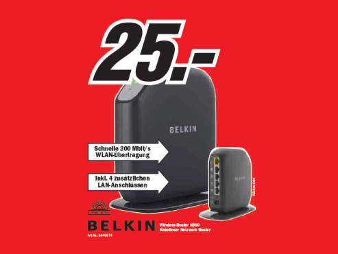 Belkin Wireless Router N300 © Media Markt
