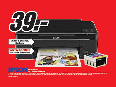 Epson Stylus SX130 ©Media Markt