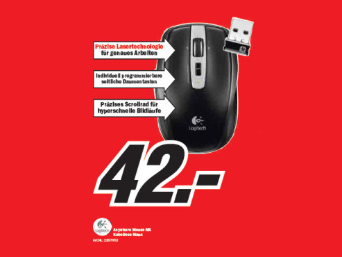 Logitech Anywhere Mouse MX © Media Markt