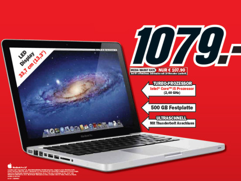 MacBook Pro 13 Zoll © Media Markt