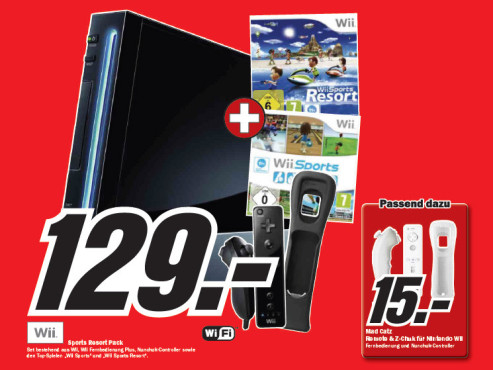Nintendo Wii Sports Resort Pack © Media Markt