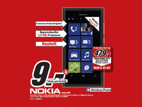 Nokia Lumia 800 ©Media Markt