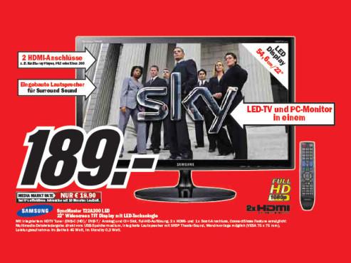 Samsung Syncmaster T22A300 ©Media Markt