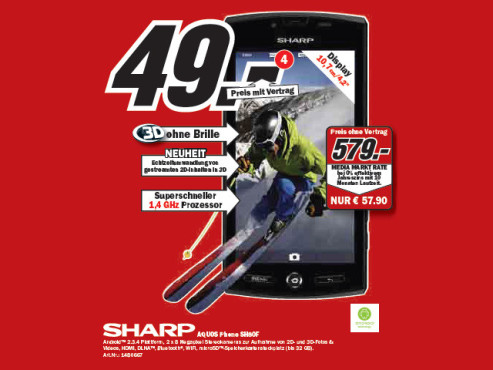Sharp Aquos Phone SH80F © Media Markt