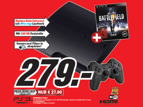 Sony Playstation 3 Battlefield 3 Pack © Media Markt