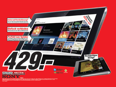 Sony Tablet S © Media Markt