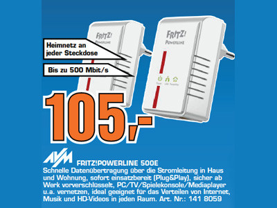AVM Fritz!Powerline 500E © Saturn