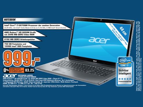 Acer Aspire 7750G-2678G87MNKK ©Saturn
