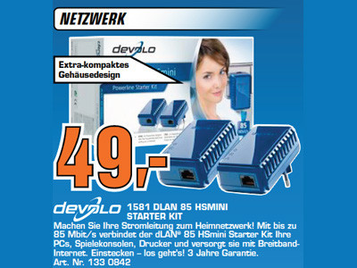 Devolo 1581 dLAN 85 HSmini Starter Kit © Saturn