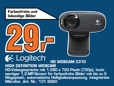 Logitech HD Webcam C310 © Saturn