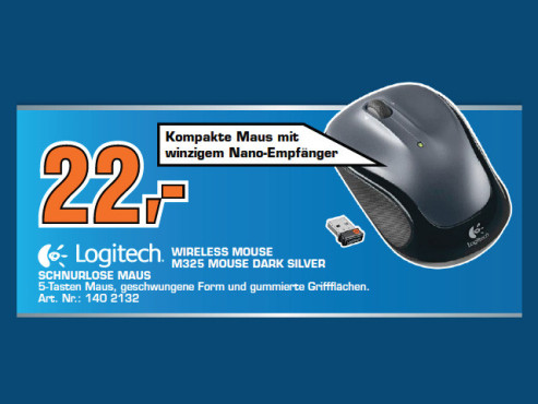 Logitech M325 Mouse Dark Silver © Saturn