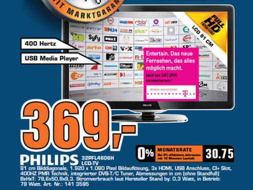 Philips 32PFL4606H © Saturn