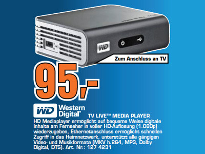 Western Digital TV Live Media Player © Saturn
