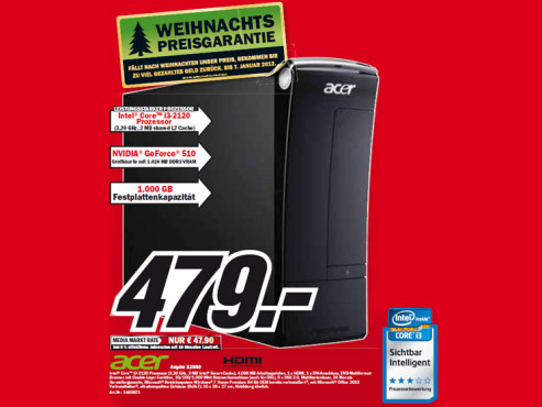 Acer Aspire X3990 ©Media Markt