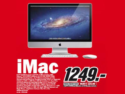 Apple iMac 21,5 Zoll ©Media Markt