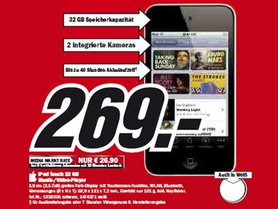 Apple iPod touch 32 GB ©Media Markt