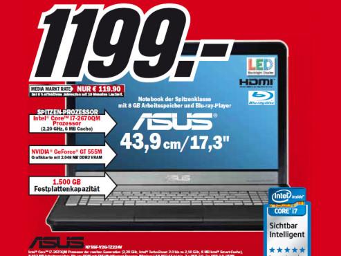 Asus N75SF-V2G-TZ224V ©Media Markt