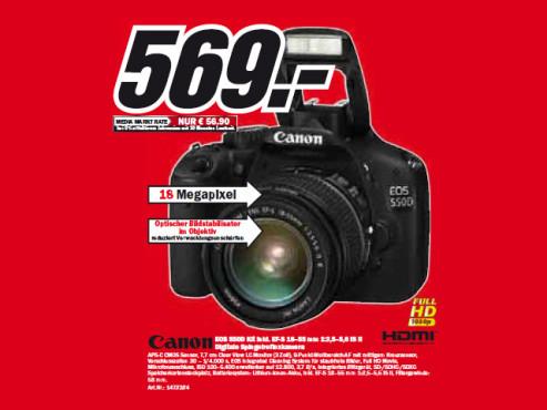 Canon EOS 550D (EF-S 18–55 mm 1:3,5–5,6 IS II) ©Media Markt
