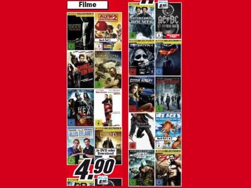 Filme auf DVD ©Media Markt