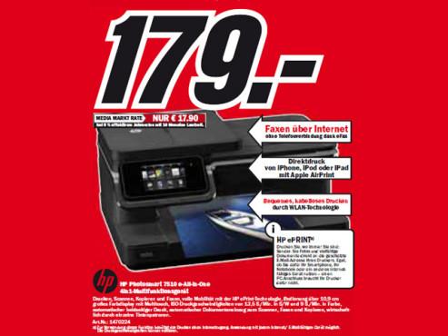 HP Photosmart 7510 e-All-in-One ©Media Markt