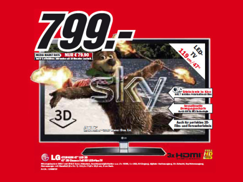 LG 47LW4500 ©Media Markt