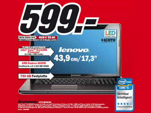 Lenovo G770 M5397GE ©Media Markt
