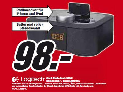 Logitech Clock Radio Dock S400i ©Media Markt