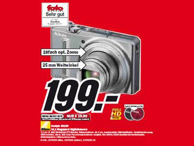 Nikon Coolpix S9100 ©Media Markt