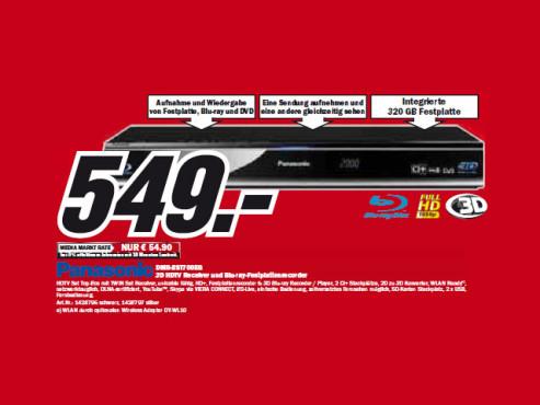 Panasonic DMR-BST700EG ©Media Markt