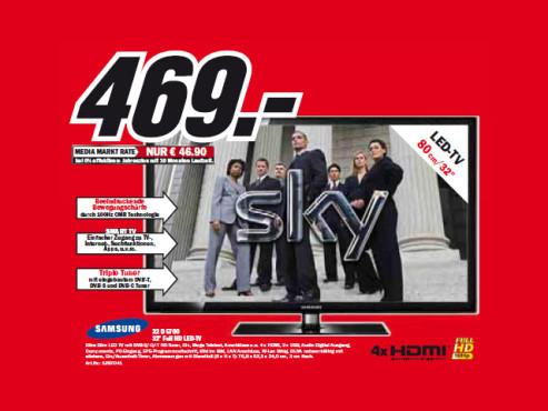 Samsung UE32D5700 ©Media Markt