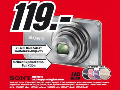 Sony Cybershot DSC-W570 ©Media Markt