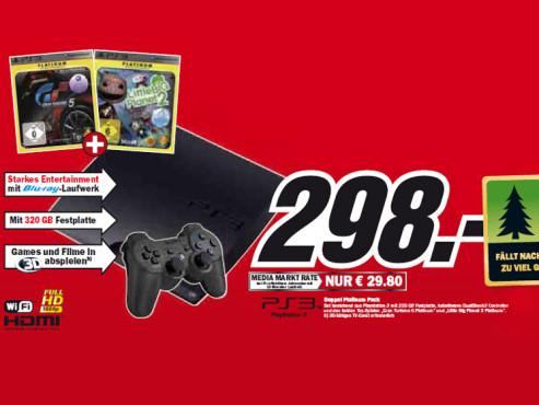 Sony Playstation 3 Doppel Platinum Pack ©Media Markt