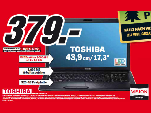 Toshiba Satellite C670D-126 ©Media Markt