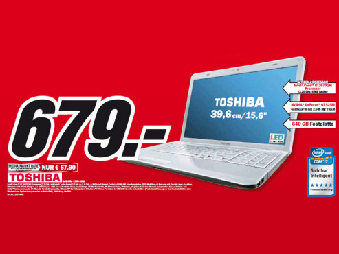 Toshiba Satellite L750-1NG ©Media Markt