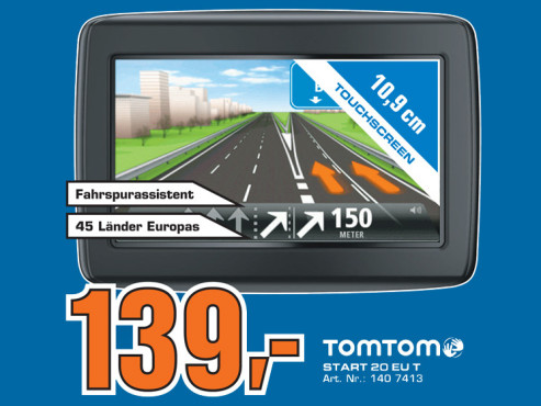 TomTom Start 20 Europe Traffic © Saturn