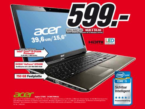 Acer Aspire 5750G-2438G75Mnkk ©Media Markt