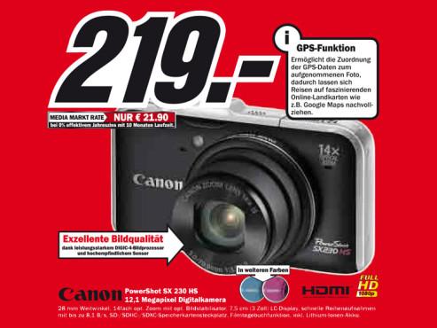 Canon PowerShot SX230 HS ©Media Markt