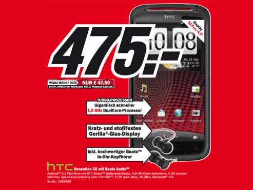 HTC Sensation XE ©Media Markt