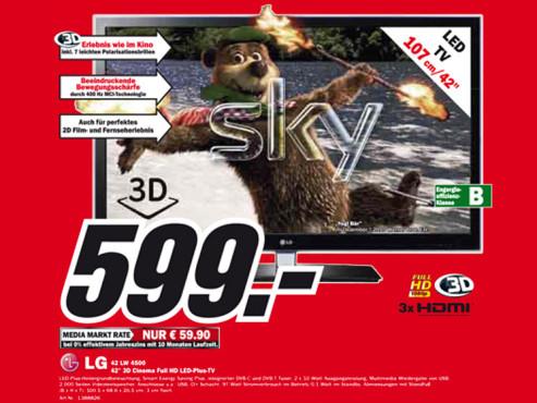 LG 42LW4500 ©Media Markt