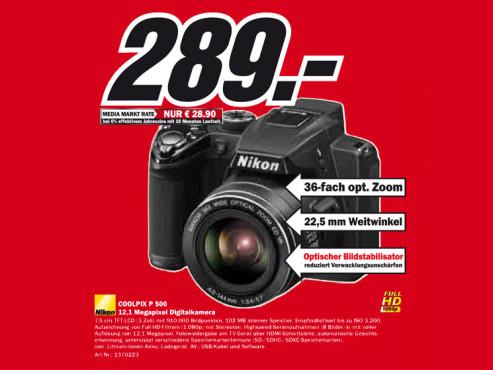 Nikon Coolpix P500 ©Media Markt