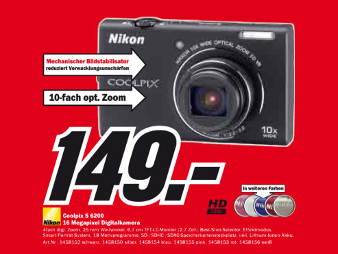Nikon Coolpix S6200 ©Media Markt