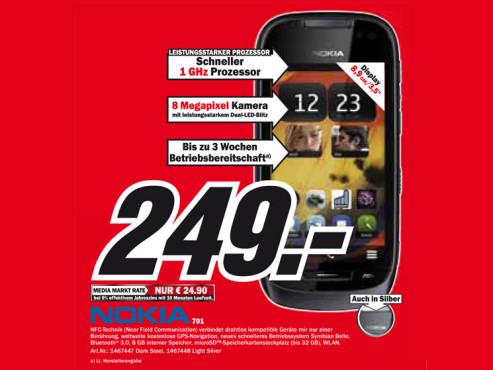 Nokia 701 ©Media Markt