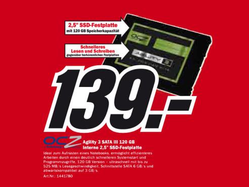 OCZ Agility 3 SATA III 120 GB ©Media Markt