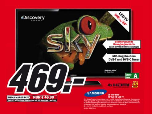 Samsung UE40D5000 ©Media Markt