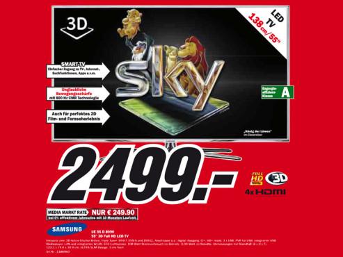 Samsung UE55D8090 ©Media Markt