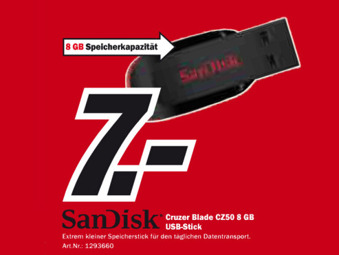 Sandisk Cruzer Blade CZ50 8 GB ©Media Markt