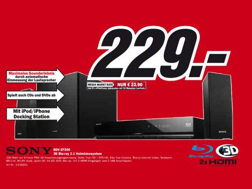 Sony BDV-EF200 ©Media Markt