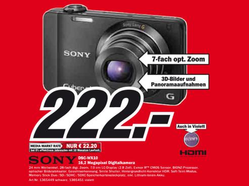 Sony Cybershot DSC-WX10 ©Media Markt