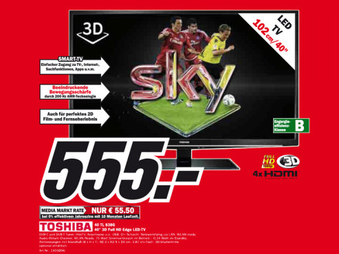 Toshiba 40TL838G ©Media Markt