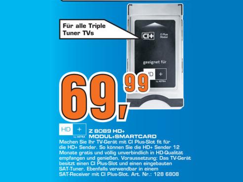 Sky Vision Z 8089 HD+ Modul und Smartcard ©Saturn